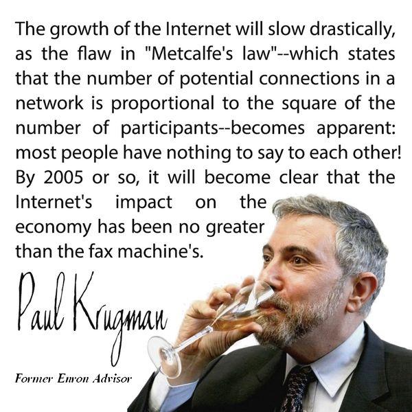 former enron advisor Paul Krugman